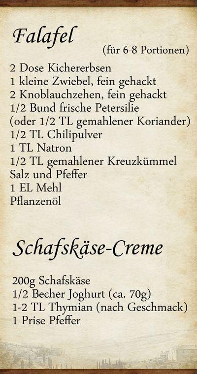 Elly's Art: Falafel und Schafskäse-Creme