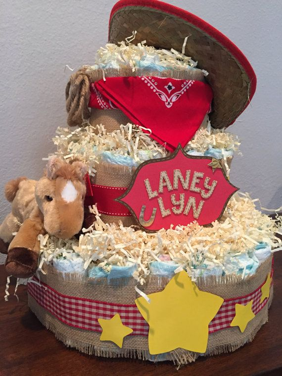 Cowboy Diaper Cake by UCreationsSHOP on Etsy