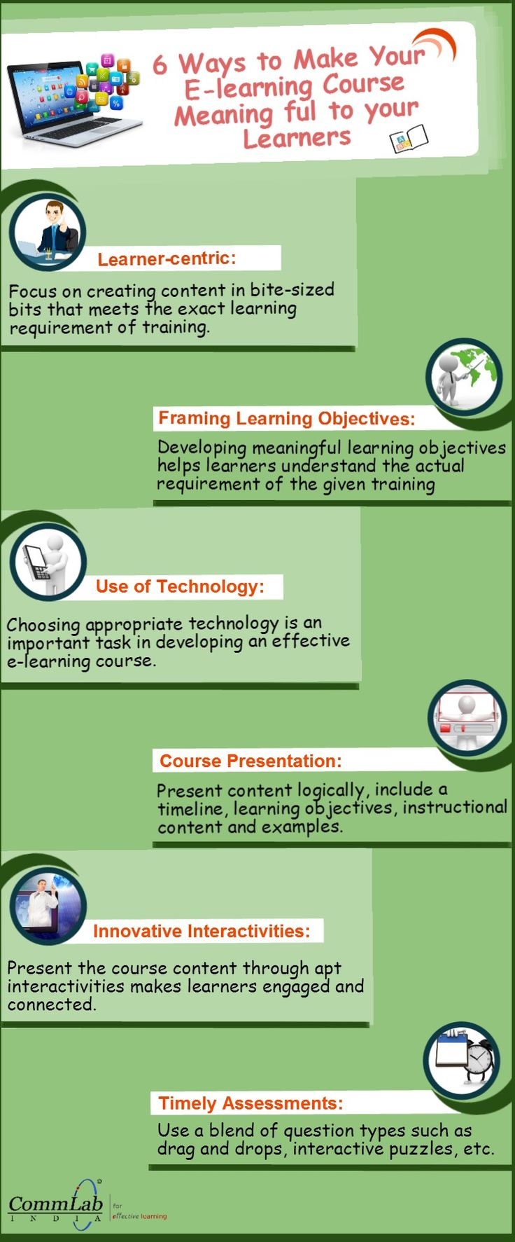 6 Ways To Make Your #elearning Course Meaningful  An #infographic