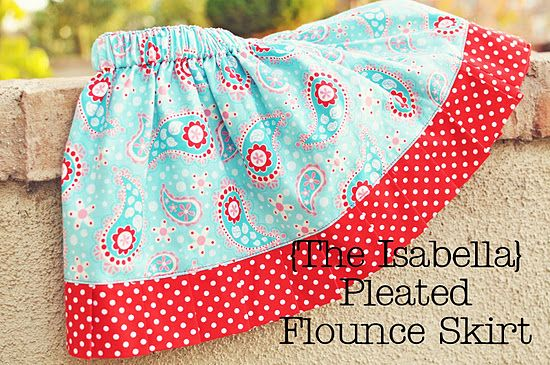 Okay, I know this is a kids skirt, but I can use these same basic instructions to make one for myself.