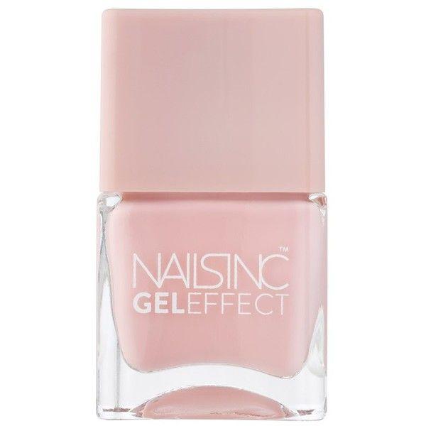 Nails Inc Gel Effect Polish (25 CAD) ❤ liked on Polyvore featuring beauty products, nail care, nail polish, vernis, gel nail care, gel nail color, gel nail polish and shiny nail polish