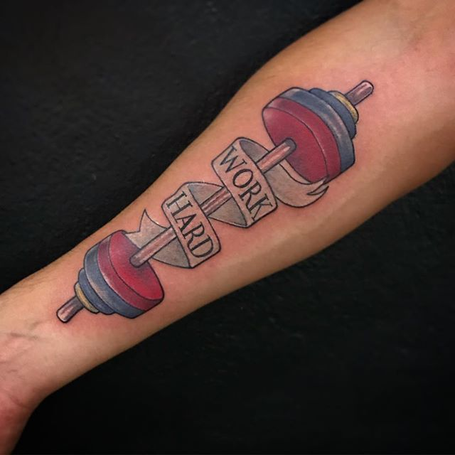 Crossfit inspired tattoo by the homie Sanot