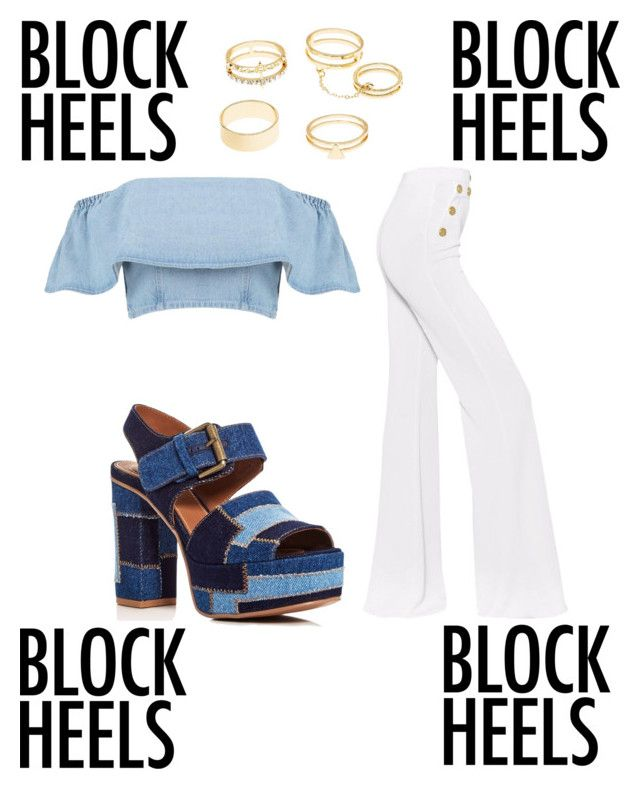"""""""Une petite torsion sur le costume bleu"""" by zoecrepp on Polyvore featuring See by Chloé, Balmain and Charlotte Russe"""