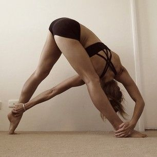 My pretzel days are gone but this sure does look lovely! If I close my eyes in the modified version I can visualize this as me... yay imagination! You are what you think....twisted triangle #yoga