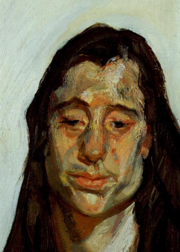 Lucian Freud (1922-2011) was een Britse schilder van Joods-Oostenrijkse afkomst. Hij was een kleinzoon van Sigmund Freud. liet zich inspireren door het expressionisme van George Grosz en Otto Dix. Zijn portretten en talloze naaktfiguren imponeren door een vaak agressief realisme. Hij had een voorliefde voor zware jongens, dikke modellen en aristocratische vrouwen. Hij wilde werelden van uitersten tegelijk beleven.
