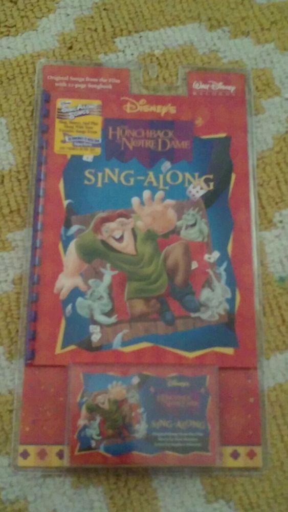 Disney The Hunchback of Notre Dame Cassette Sing Along Song Book Soundtrack NEW  #FilmScoreSoundtrack