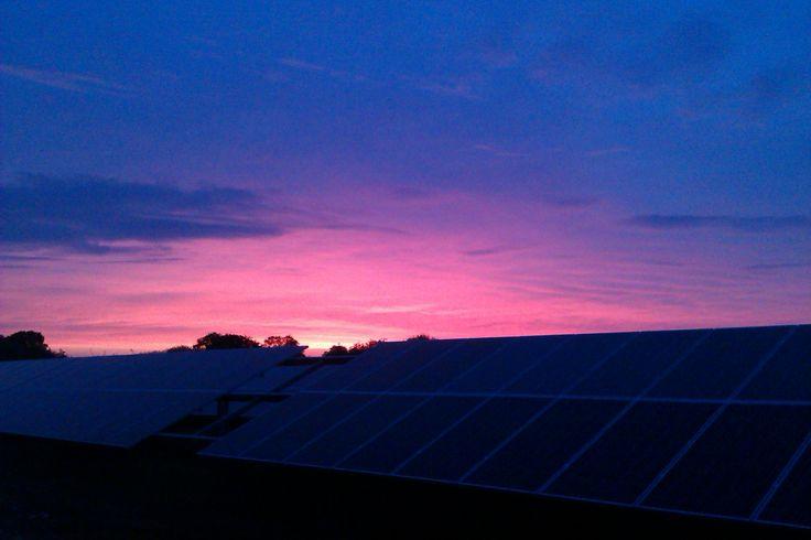 sunset over 17MWp