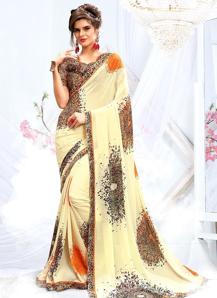 Buy saree online, trendy saree that serve for fashion and style. Grab this exuberant weight less casual saree for casual.