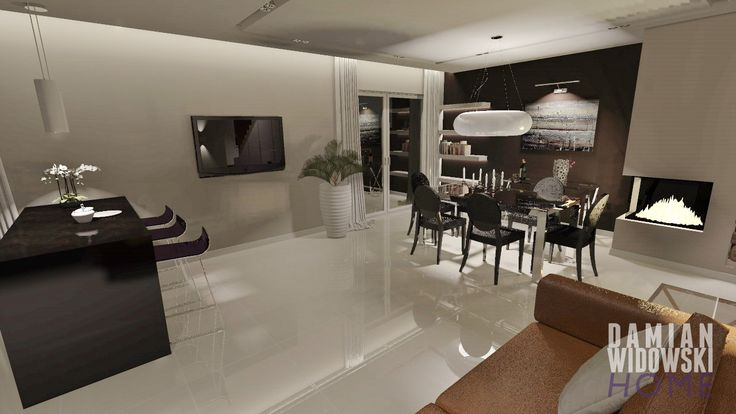 Interiors in a semi-detached house: living, dining & cooking area  Please visit my page! http://facebook.com/damianwidowskihome