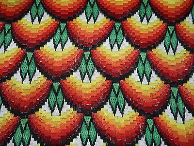 Vintage hand embroidered Bargello motif