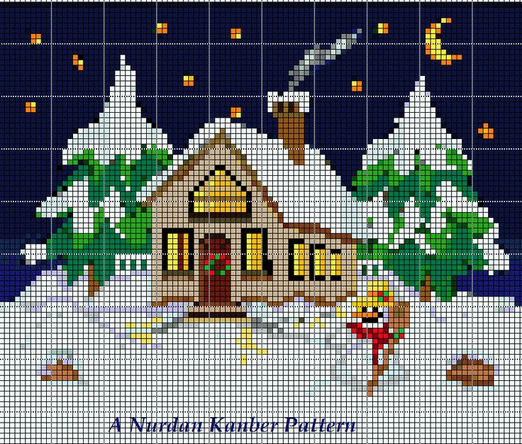 Christmas Cottage! Inspired by a free clip art!