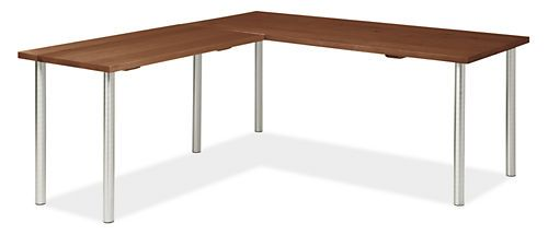 Stanton Desk $1,528.00 Tons of counter color/material options and sizes  Legs L-Shaped 72x30 29h Desk with 48x24 Left Return and  60x30 29h Desk with 36x18 Left Return