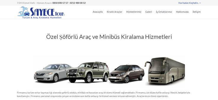 If you're planning your trip several months in advance, check car-rental costs offered at that time. Just do it, should you locate exactly what you consider honest and lock it in -- sayece araç kiralama --- http://www.sayece.com/soforlu-arac-kiralama/