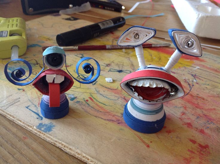 Mostrilli fatti con tecnica quilling 3D da me !