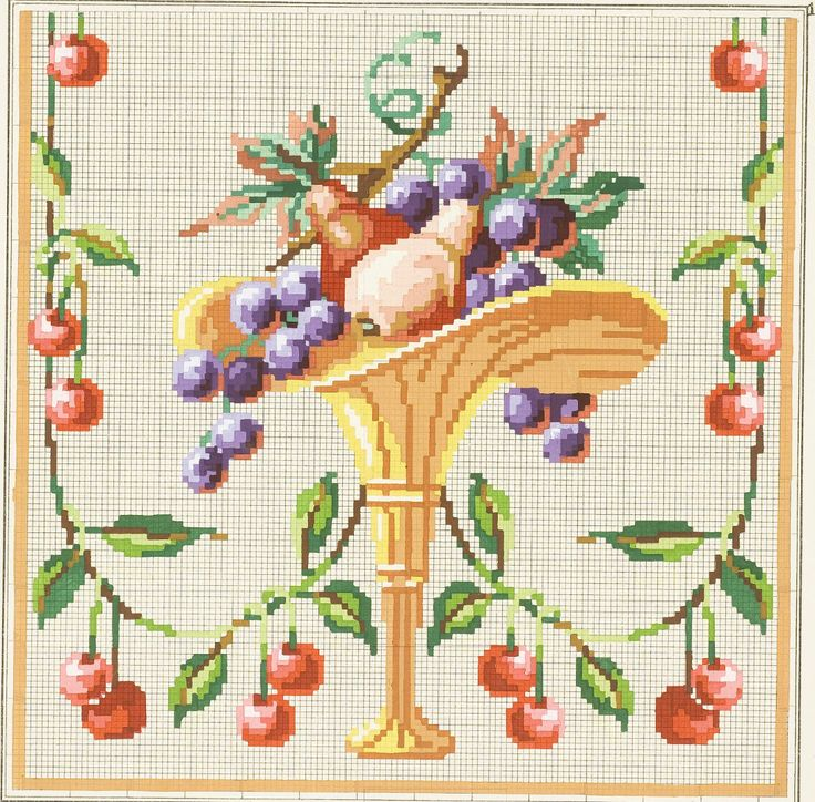 2368 best embroidery needlepoint petit point images on for Cross stitch kitchen designs