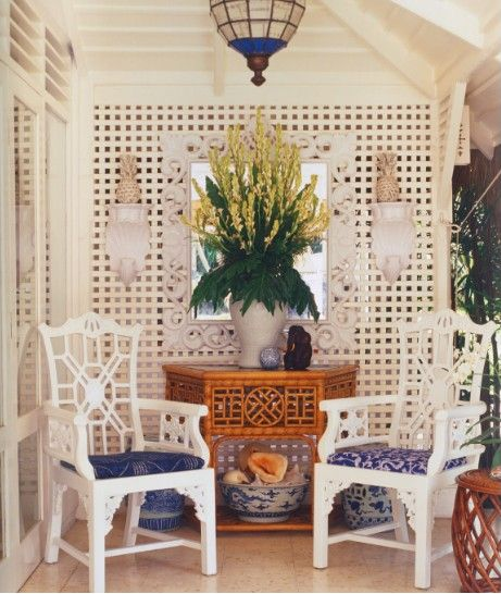 Blue and White Palm Beach Chic