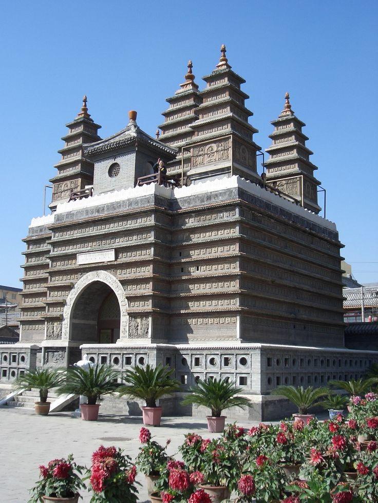 Temple of the Five Pagodas, Hohhot, Mongolia. [https://en.wikipedia.org/wiki/Five_Pagoda_Temple_(Hohhot)]