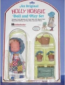 Image detail for -... holly hobbie doll 6 1 2 holly with accessories wagon water can and