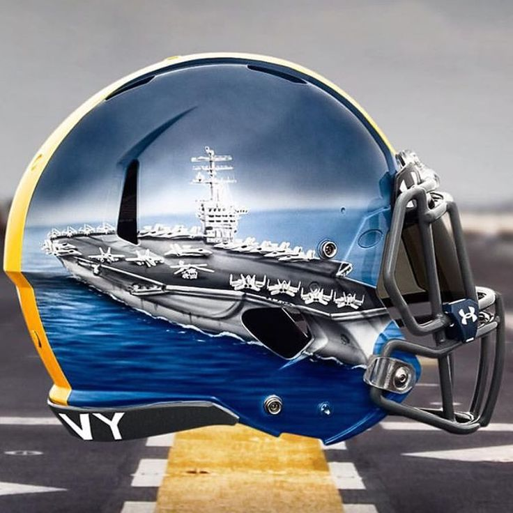 What is ur favorite football helmet?? Mine is Navy Fleet helmets 2015 vs Army. Show us ur favorite! #FavHelmetFriday http://ss1.us/a/FW98koF2