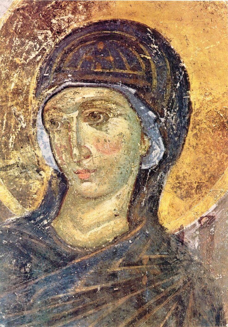 Источна страна поткуполног простора: Богородица из Благовести