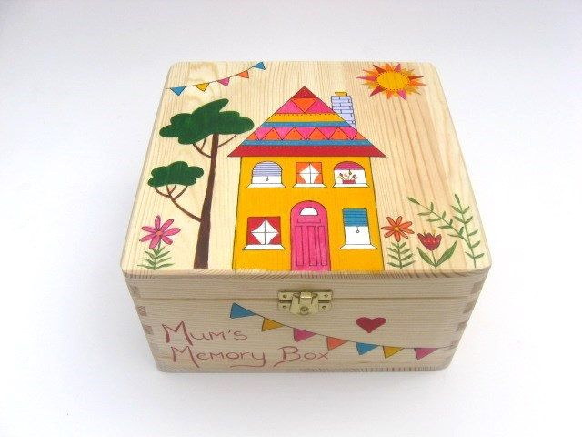 Mother's Day Keepsake Box Wooden Memory Box by funkyforesthome