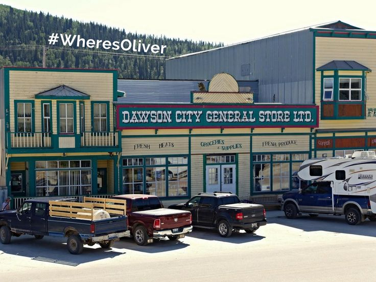 On the banks of the Yukon River, Dawson City came into being with the discovery of gold in August of 1896. It is the heart of the world-famous Klondike Gold Rush. While you can still pan for gold, Oliver is hoping to find some treasures at the general store. Find out more at: http://dawsoncity.ca/