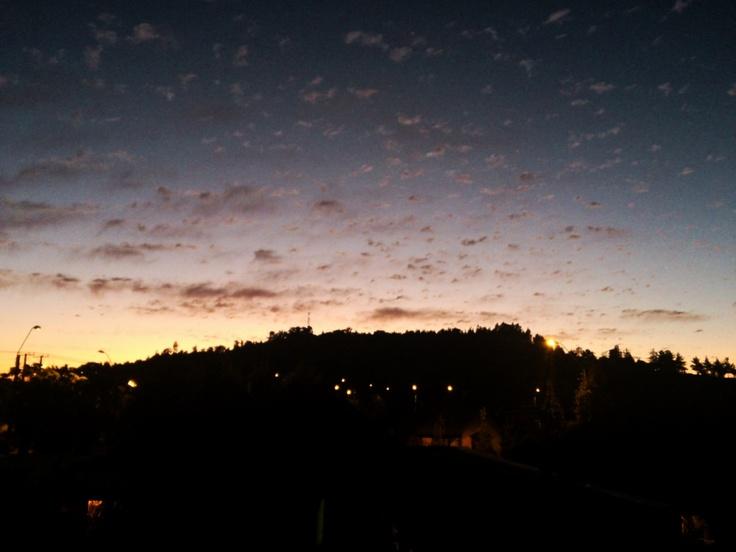 Sunset. Curicó, Chile.