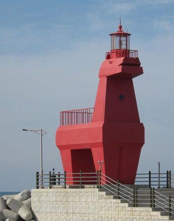 Lighthouses of Korea: Jeju (Cheju), Iho Hang West Breakwater