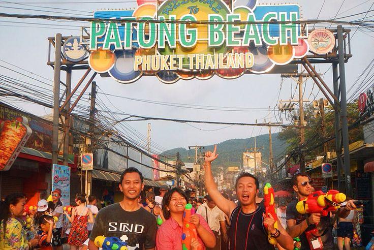 Songkran festival, patong beach, phuket