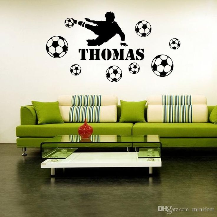 Thomas Football Sports Wall Stickers Living Room Bedroom Bar Cartoon Waterproof Can Be Removed Decorative Wall Stickers Quotes Stickers For Walls Quotes Wall Stickers From Minifeet, $11.06| Dhgate.Com