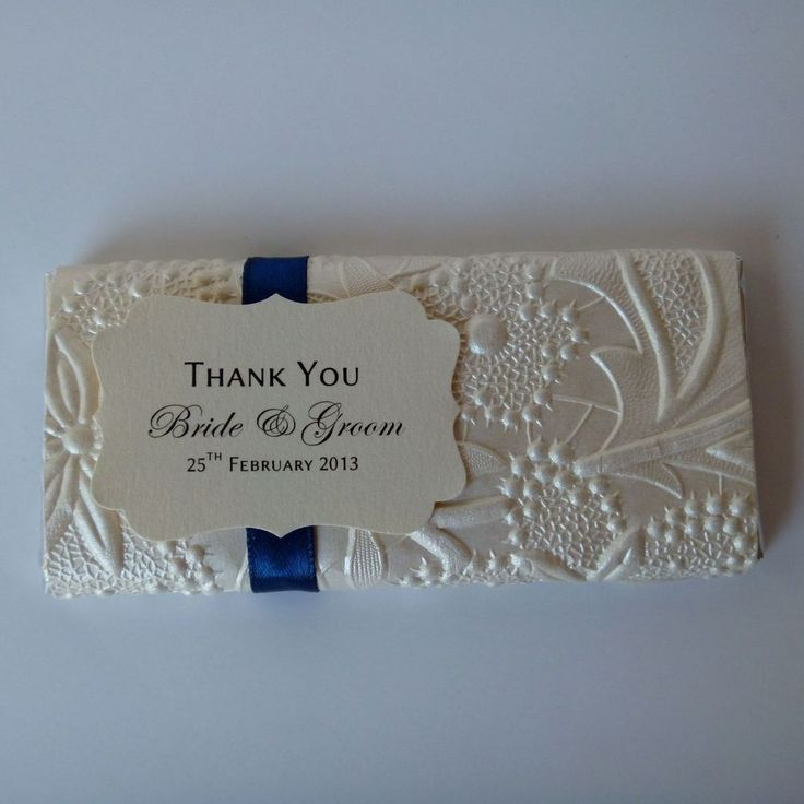 Personalised Chocolate Bars - Bloom Design - Wedding Favour & Placecard in 1