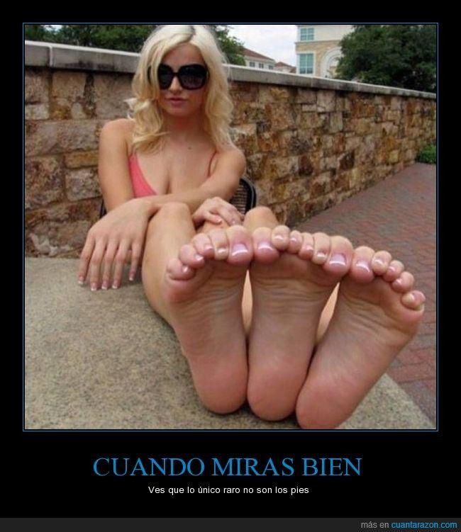 CUANDO MIRAS BIEN - Ves que lo único raro no son los pies   Gracias a http://www.cuantarazon.com/   Si quieres leer la noticia completa visita: http://www.estoy-aburrido.com/cuando-miras-bien-ves-que-lo-unico-raro-no-son-los-pies/