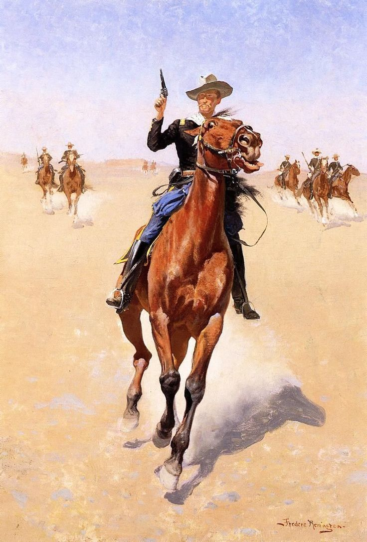 Image detail for -Frederic Remington Paintings - Frederic Remington The Trooper ...