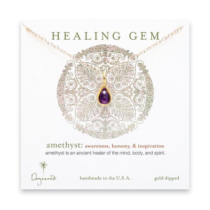 Dogeared Amethyst Healing Gem Necklace