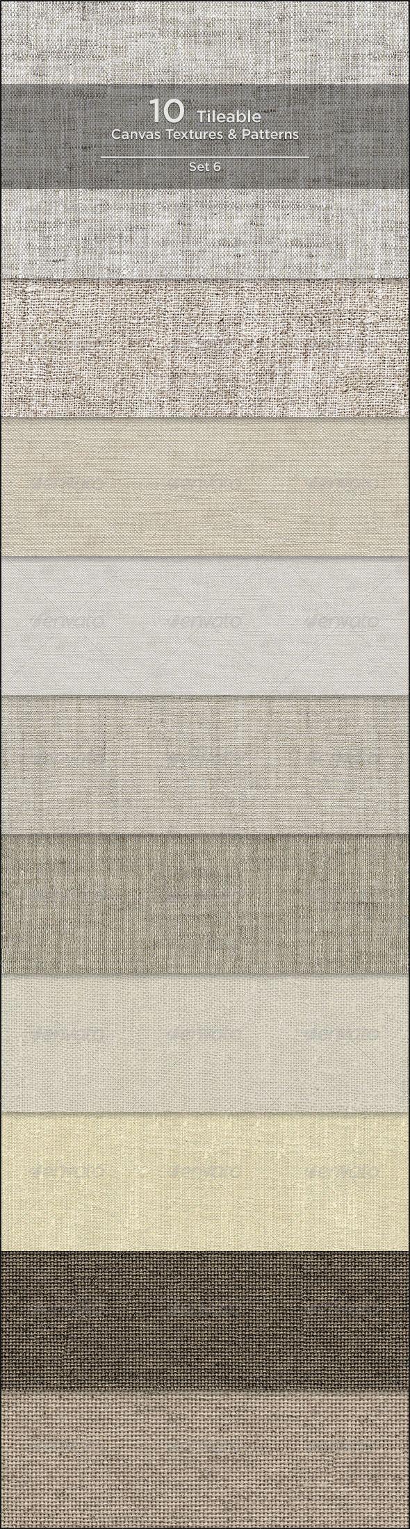 10 Tileable Canvas Textures/Patterns