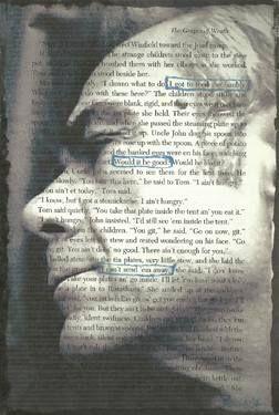 "Saatchi Art Artist Guido Prussia; Printmaking, ""Self Portrait  (random encounters between words and pictures)"" #art"