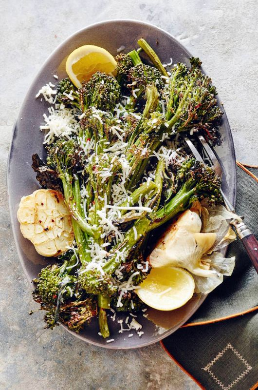 Roasted Broccolini with Garlic and Parmesan from www.whatsgabycooking.com (@whatsgabycookin) hands down the best side dish ever