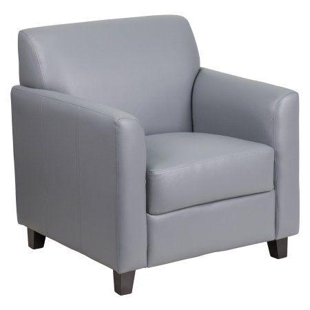 Flash Furniture Hercules Diplomat Series Grey Leather Chair, Gray