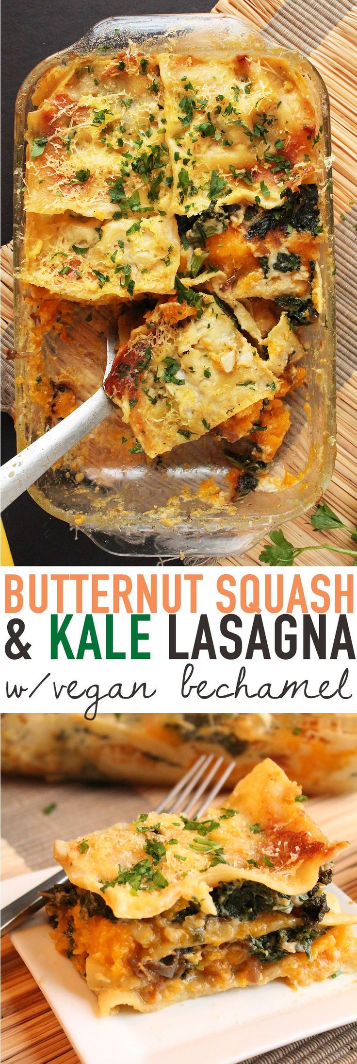 Cozy up this winter with this Butternut Squash and Kale Lasagna. You'll be glad you did! Click the photo for the full recipe.