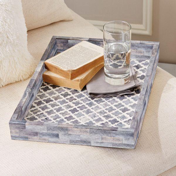 Slate Mosaic Decorative Tray by Tozai Home