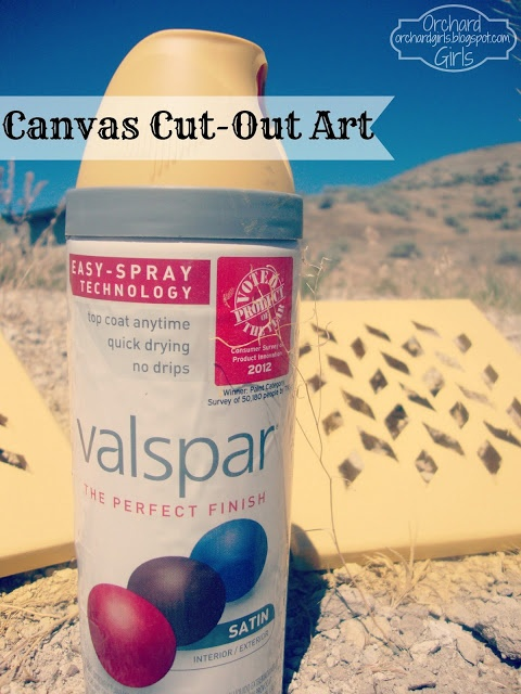 Thrifty Thursday: Canvas Cut-Out Art!