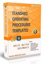 standard operating procedure templates, etc.