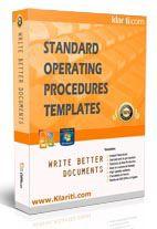 standard operating procedure templates, etc.