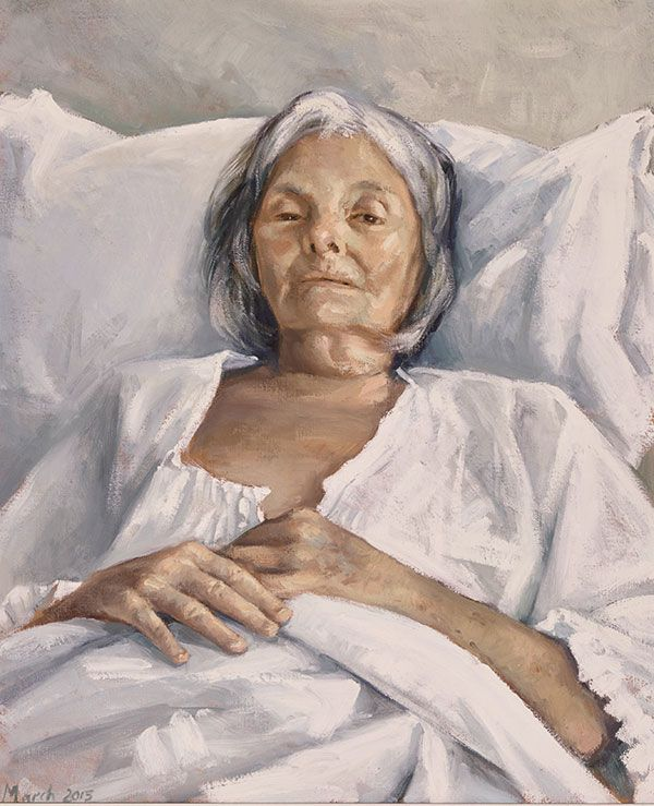 Here's my favourite finalist in the Archibald Prize: The last portrait by Peter Churcher. Vote for your favourite.
