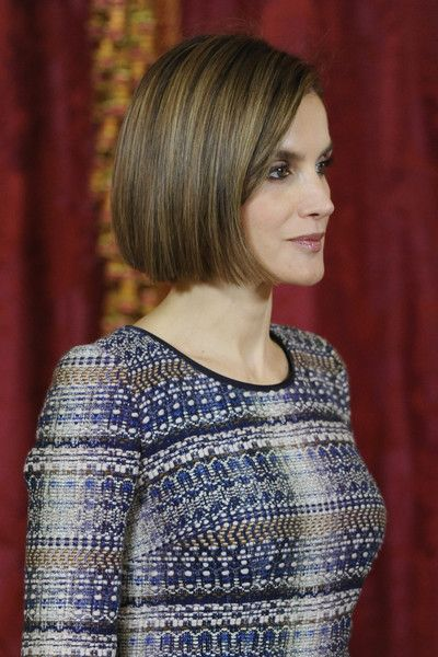 Queen Letizia of Spain Photos Photos - Queen Letizia of Spain attends a lunch in honour of Egyptian President Abdel Fattah al-Sisi at the Royal Palace on April 30, 2015 in Madrid, Spain. - King Felipe VI of Spain Host a Lunch For President of Egypt in Madrid