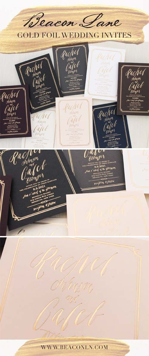 happily ever after wedding invitations%0A Garden Roses Gold Foil Wedding Invitations