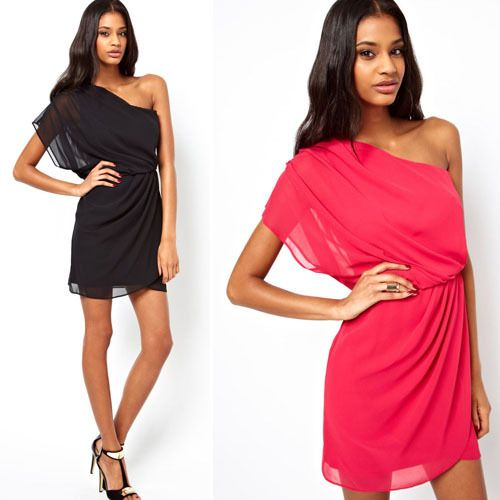 Find More Dresses Information about 2015 new summer fashion women one shoulder mini Chiffon Dress S M L XXL Size Black Red Club Dress Free Shipping,High Quality dress patterns prom dresses,China dresses of indian people Suppliers, Cheap dress up your cat from Julybaby's Room Clothing Store on Aliexpress.com