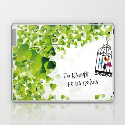 Το κλουβί με τις τρελές (the cage with the crazy girls) Laptop & iPad Skin by Eltina Giannopoulou - $25.00