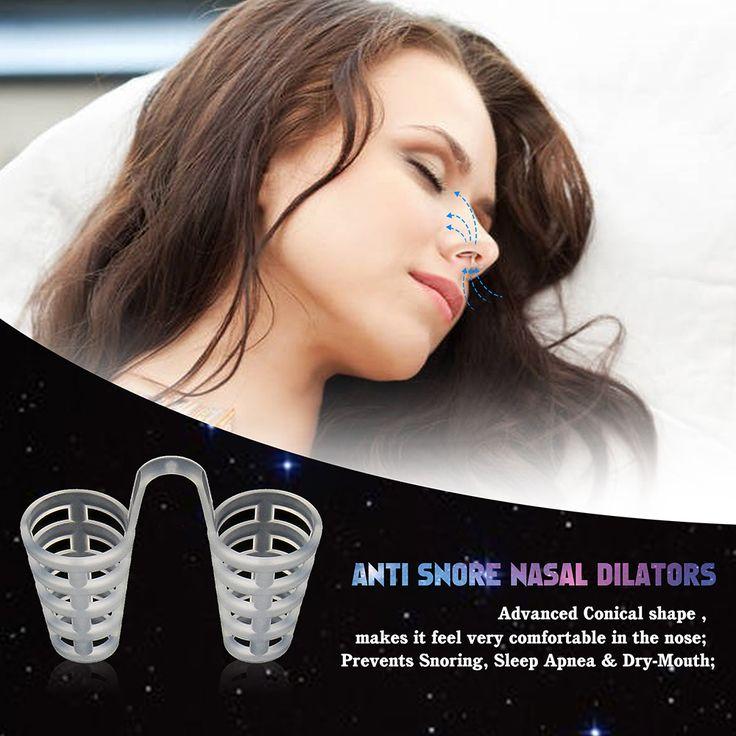4 개 건강한 수면 보조 장비 코골이 자기 안티 코 고는 무호흡증 코 클립 안티-코골이 호흡 처치 정지 코 고는 장치