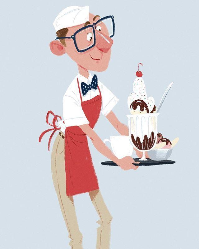 Trevor at Ghiradelli. #visdev #sketch #illustration #drawing #painting #sketchbook #doodle #ipadart #procreate #cafesketch #portrait #livesketch #urbansketch #dessert #sundae #retro #disney